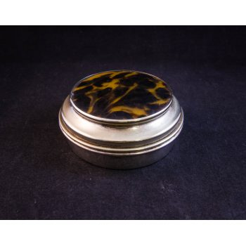 silver plated compact box