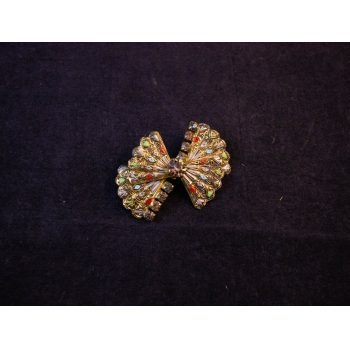 Gilt and enamel costume brooch. Price includes nationwide delivery