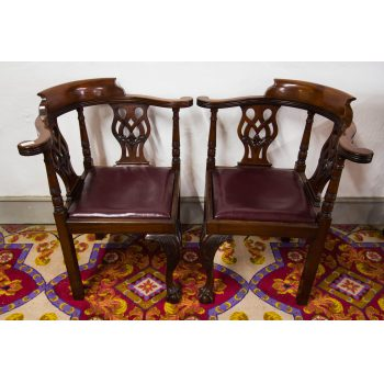 mahogany corner chairs