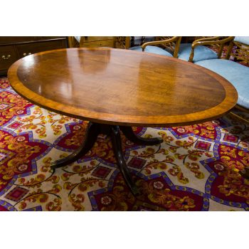 crossbanded oval mahogany breakfast table