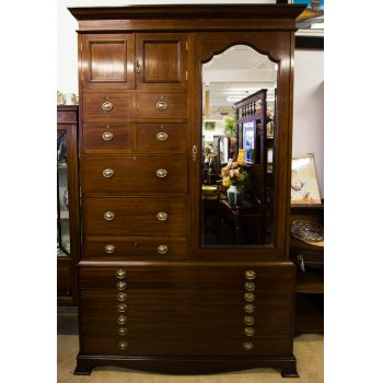 edwardian inlaid mahogany wardrobe