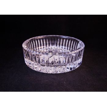 "Waterford Crystal cut glass Millennium ""Best Wishes"" wine bottle coaster"