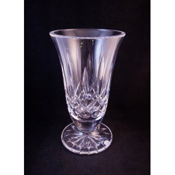 "Modern Waterford Crystal cut glass footed vase. Measures 8.5""H"