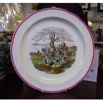 """The Huntsman"" Spode china 12"" plate"