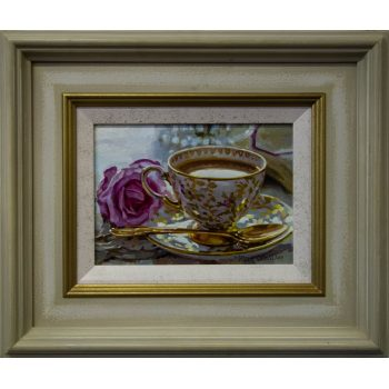 "Mark O'Neill ""A Fine Service"" still life oil painting on board"