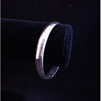 """Mexican solid beaten silver bangle. Measures 2.5"""" diameter"""