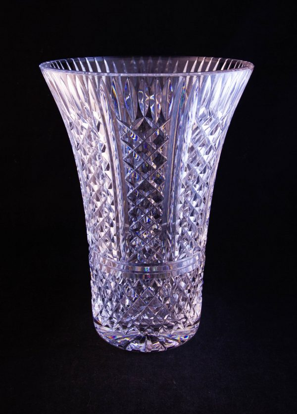 """Waterford Crystal cut glass 10""""H vase"""