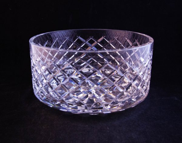 """Waterford Crystal cut glass salad bowl. Measures 7""""W x 4""""H"""