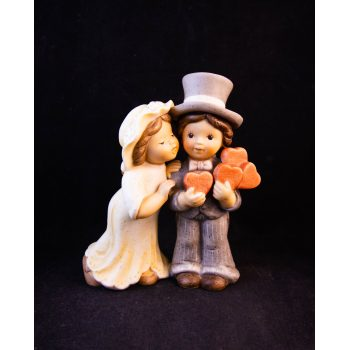 "Goebel Nina Marco wedding figure with love hearts. Signed Limpke on the back. Measures 5.5""H x 4.5""W"