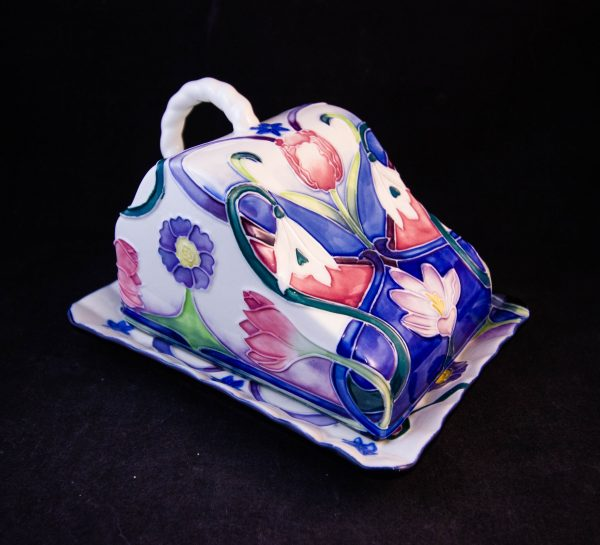 """Old Tuptonware hand painted cheese dish. Measures 6""""L x 4.75""""W x 4""""H. Price includes nationwide delivery"""