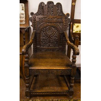 oak throne chair